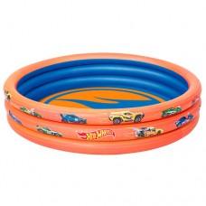 Надувной бассейн детский Bestway 93403 Hot Wheels, 122 х 25 см, оранжевый