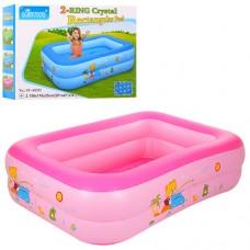 Надувной бассейн детский Bestway D25648, 150 х 110 х 35 см, розовый и голубой