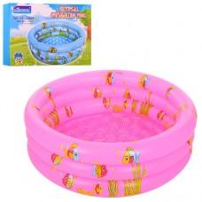 Надувной бассейн детский Bestway D25650, 90 см, розовый и голубой