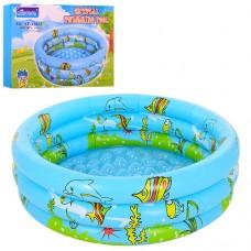 Надувной бассейн детский Bestway D25651, 100 см, голубой и синий