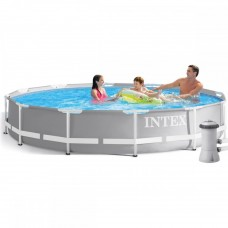 Каркасный бассейн Intex 26712, 366 х 76 см, серый