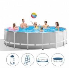Каркасный бассейн Intex 26726, 457 х 122 см, серый