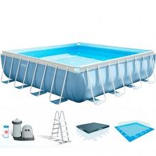 Каркасный бассейн Intex 26766, 488 х 488 х 122, голубой