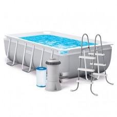 Каркасный бассейн Intex 26784, 300 х 175 х 80 см, светло-серый