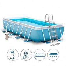 Каркасный бассейн Intex 26792, 488 х 244 х 107 см, голубой