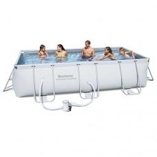 Каркасный бассейн Bestway 56251, 404 х 201 х 100 см, светло-серый