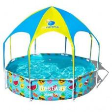 Каркасный бассейн детский Bestway 56432, 244 х 51 см, оранжевый