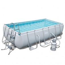 Каркасный бассейн Bestway 56442, 404 х 201 х 100 см, светло-серый