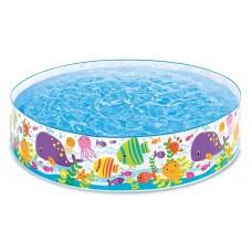 Каркасный бассейн детский Intex 56452 Океан, 183 х 38 см, голубой
