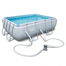 Каркасный бассейн Bestway 56629, 282 х 196 х 84 см, светло-серый