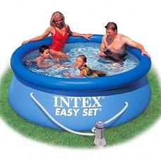 Надувной бассейн семейный Intex 28112, 244 х 76 см, синий