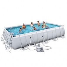Каркасный бассейн Bestway 56471, 671 x 366 x 132 см, серый