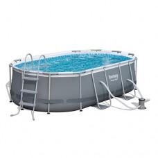 Каркасный бассейн Bestway 56620, 424 x 250 x 100 см, серый