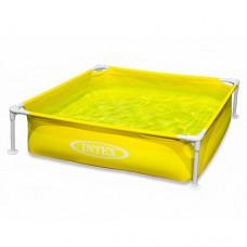 Каркасный бассейн детский Intex 57172, 122 х 122 х 30 см, желтый