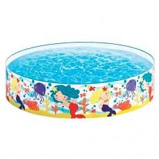 Каркасный бассейн детский Intex 58458 Русалки, 183 х 38 см, белый с рисунком