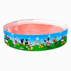 Каркасный бассейн детский Intex 91009 Клуб Микки Мауса, 183 x 38 см, голубой