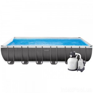 Каркасный бассейн Intex 26368, 732 х 366 х 132 см, серый