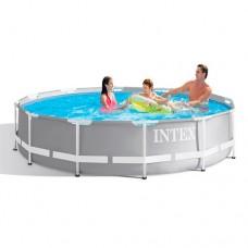 Каркасный бассейн Intex 26706, 305 x 99 см, серый