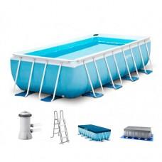 Каркасный бассейн Intex 26778, 488 х 244 х 107 см, голубой