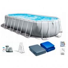 Каркасный бассейн Intex 26798, 610 х 305 х 122 см, светло-серый