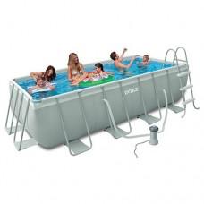 Каркасный бассейн Intex 28314, 300 x 175 x 80 см, серый