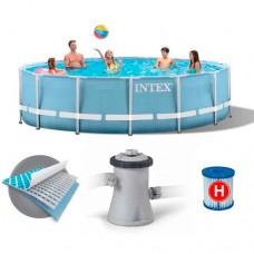 Каркасный бассейн Intex 28702, 305 х 76 см,  голубой