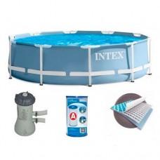Каркасный бассейн Intex 28712, 366 х 76 см, голубой