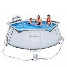 Каркасный бассейн Bestway 56245, 330 х 102 см, светло-серый