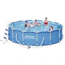 Каркасный бассейн Bestway 56305, 427 х 100 см, синий