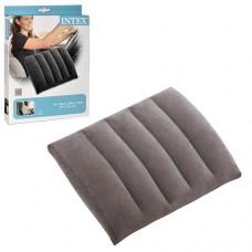 Подушка 68679 надувная, 43-33-10см, водонепроницаемое флоковое покрытие, серая, 26, 5-20, 5-3, 5см