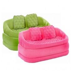Велюр диван 68573 Двухместный надувной диван, 2 цвета, 2 подушки