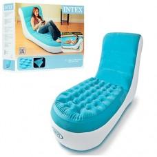 Велюр кресло-шезлонг 68880 надувной матрас со спинкой