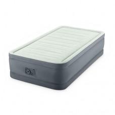 Велюр кровать 64902 99-191-46см, встроенный насос 220V, оливково-сер, кор-ке