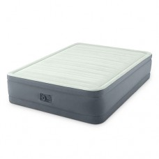 Велюр кровать 64906 152-203-46см, встроенный насос 220V, оливково-сер