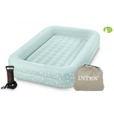 Велюр кровать 66810 детская, односпальная, можно использовать как детский бассейн иили манеж, в комплекте ручной насос
