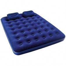 Велюр матрац 67374 с 2-мя подушками и ручным насосом