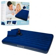 Велюр матрац 68765 надувная кровать, две надувные подушки