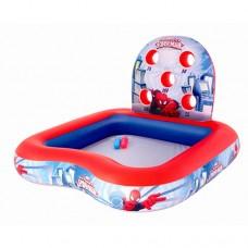 Надувной бассейн детский Bestway 98016 Spiderman, 155 х 155 х 99 см, сине-красный