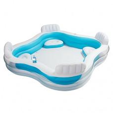 Надувной бассейн детский Intex 56475 Семейный, 229 х 66 см, бело-голубой