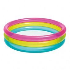 Надувной бассейн детский Intex 57104 Радуга, 86 х 25 см, разноцветный