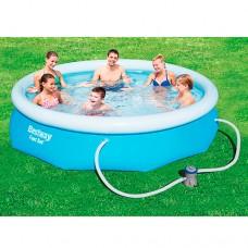 Надувной бассейн семейный Bestway 57272, 274 х 76 см, голубой