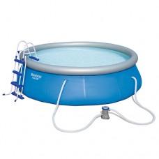 Надувной бассейн семейный Bestway 57277, 366 х 91 см, голубой