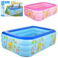 Надувной бассейн детский Bestway D25652, 210 х 150 х 65 см, розовый и голубой