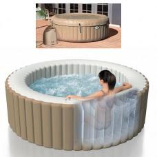 Надувной бассейн-джакузи Intex 28404 PureSpa, 147 х 191 см, бежевый