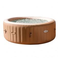 Надувной бассейн-джакузи Intex 28408 PureSpa, 216 х 71 см, коричневый