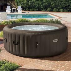 Надувной бассейн-джакузи Intex 28424 PureSpa, 147 х 191 см, коричневый
