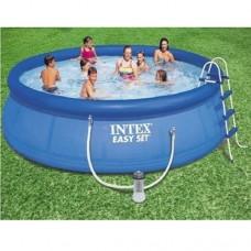 Надувной бассейн семейный Intex 28180, 457 х 84 см, синий