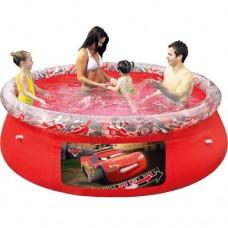 Надувной бассейн семейный Bestway 91026 Тачки, 244 х 66 см, красный