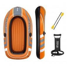 BW Лодка 61102 242-141см, весла, ножной насос, рем.запл