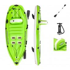 BW Лодка 65097 каяк, 270-100см, весла, ножной насос, рем.запл